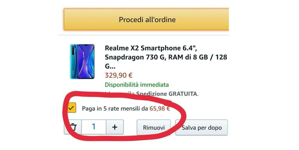 Pagamenti Rate Amazon Screenshot