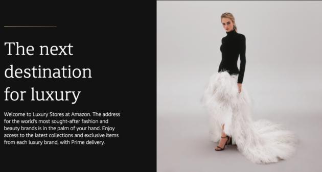 Campagna pubblicitaria Amazon luxury store
