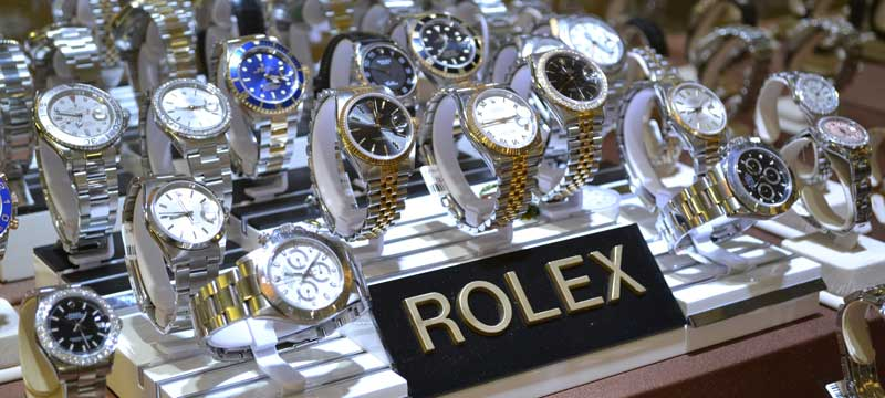 Vetrina di Rolex. Fonte: Recensioni Orologi