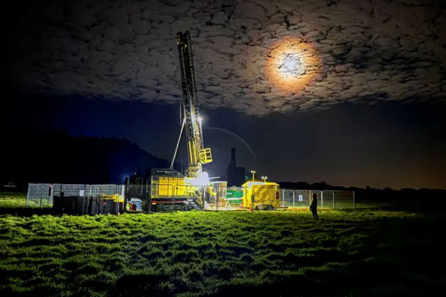 Il sito pilota di perforazione geotermica in Cornovaglia. Il metodo estrae il litio e produce energia a basse emissioni di carbonio