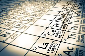 elementi metallici (terre rare) in tavola periodica