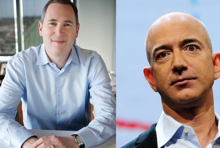 Jeff Bezos and Andy Jassy