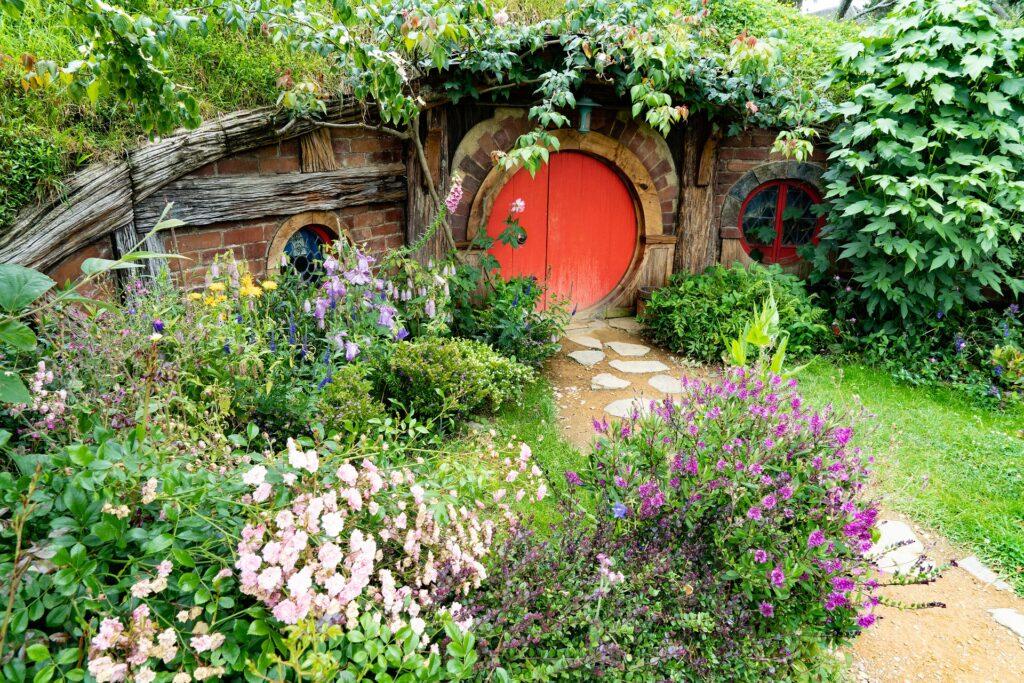 Primo piano di una casa Hobbit