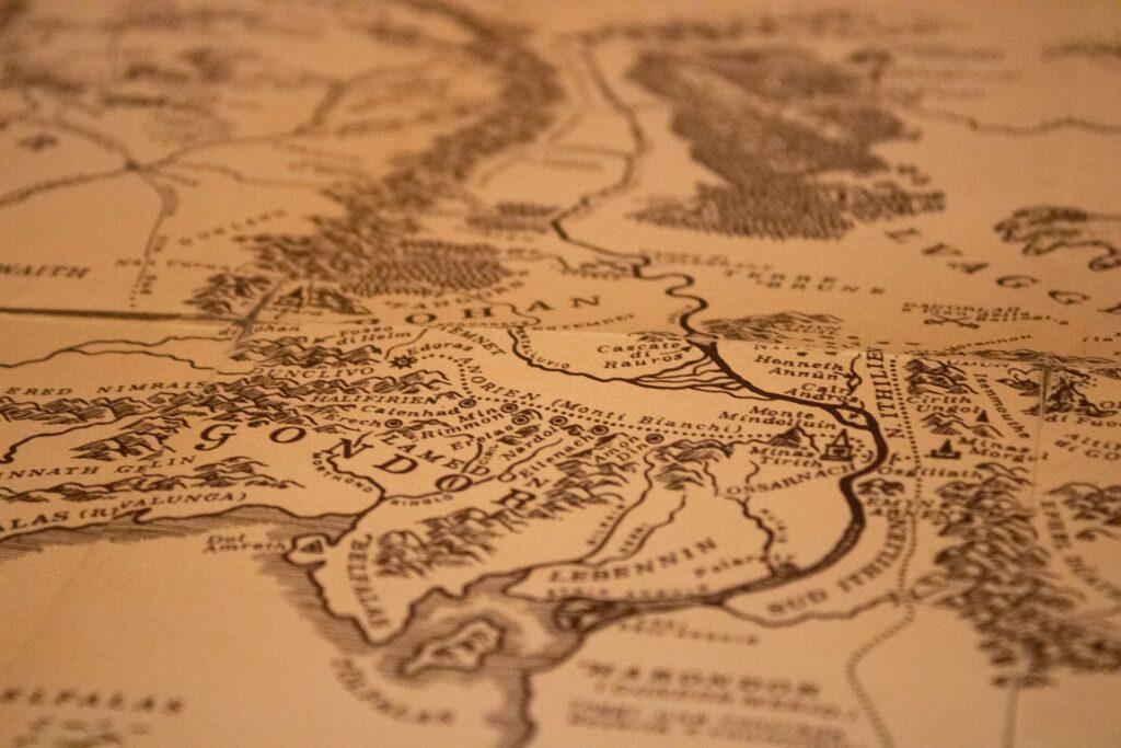 Mappa della Terra di Mezzo, dal Signore degli Anelli