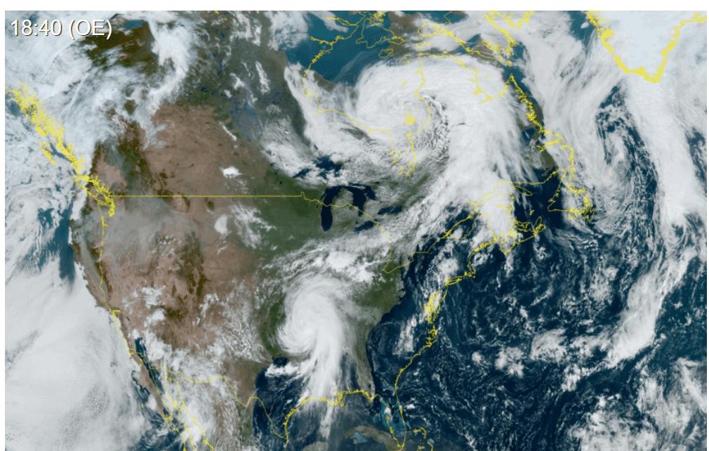 Immagine dell'uragano Ida