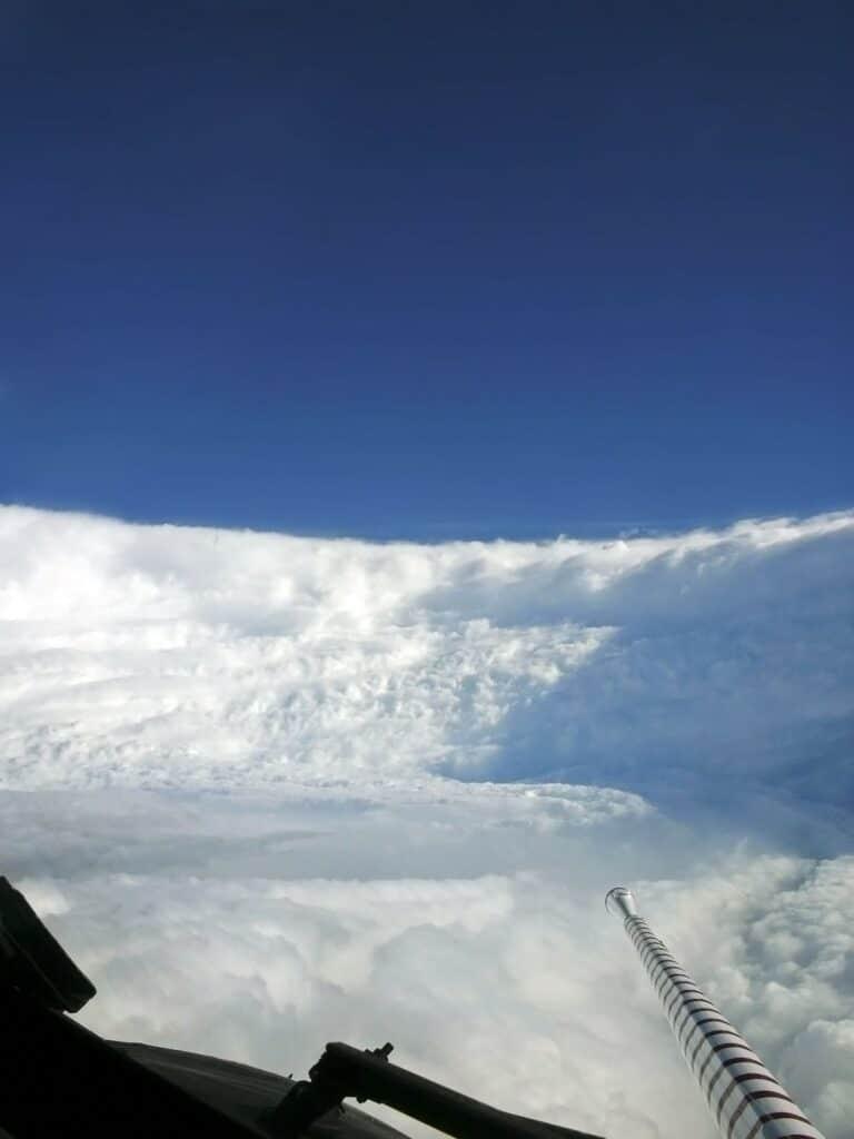 Immagine dell'uragano Katrina. uragano Ida