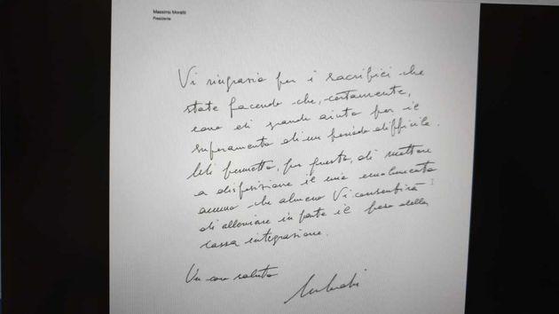 lettera Moratti