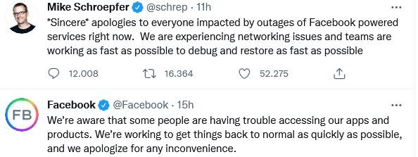 shutdown Facebook perdita economica